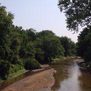 English River running through woodlands