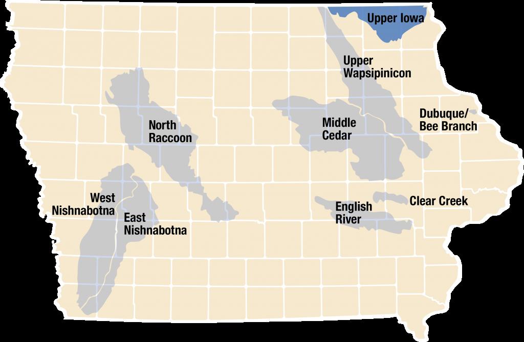 upper iowa river map Upper Iowa River Iowa Watershed Approach upper iowa river map