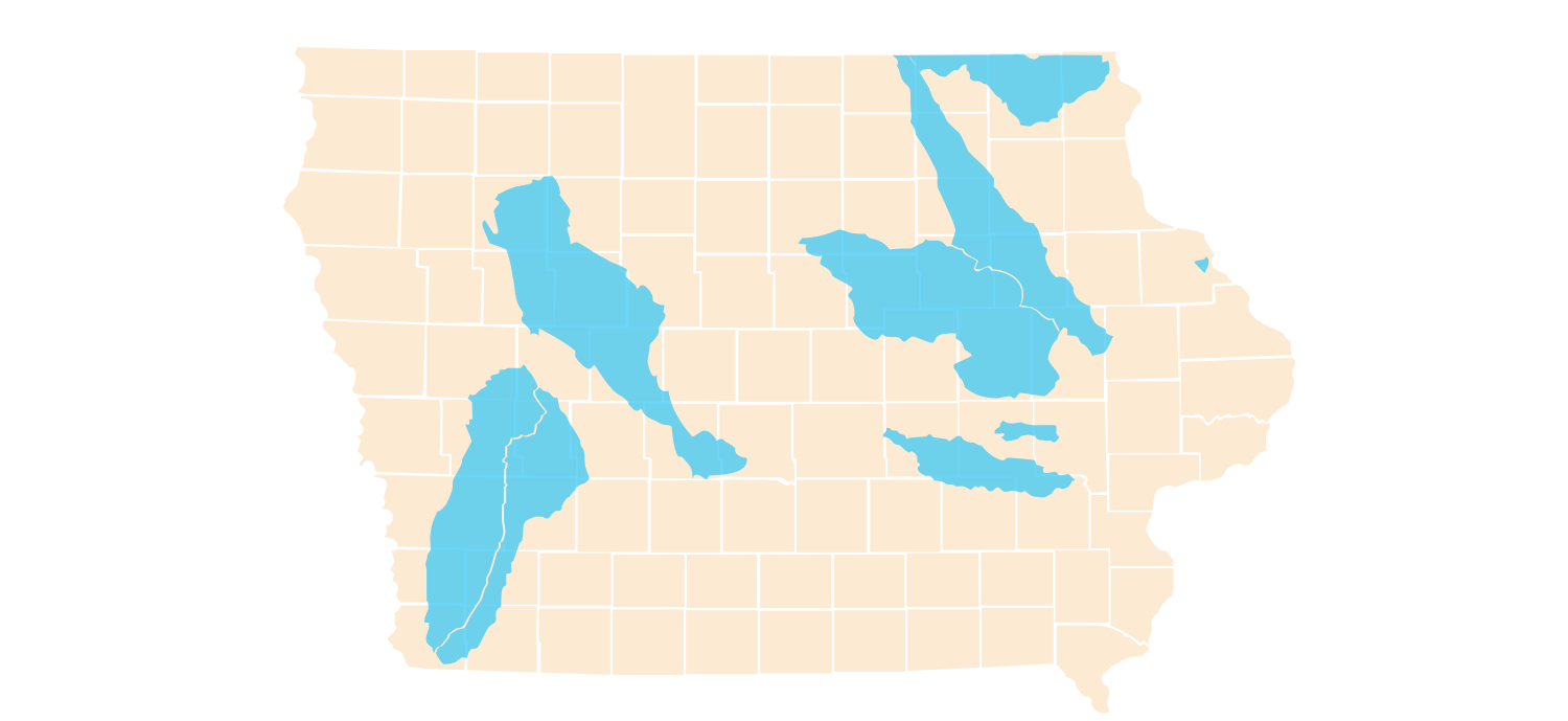 Iowa Watershed Map