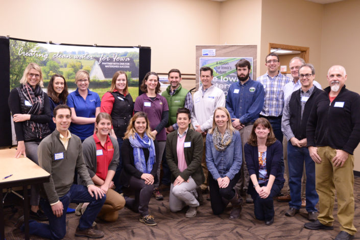 Group photo of IWA partners at the Middle Cedar Rural Stakeholder Meeting
