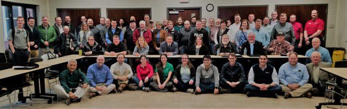 Group photo of attendees at North Raccoon WMC meeting