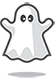 White ghost icon