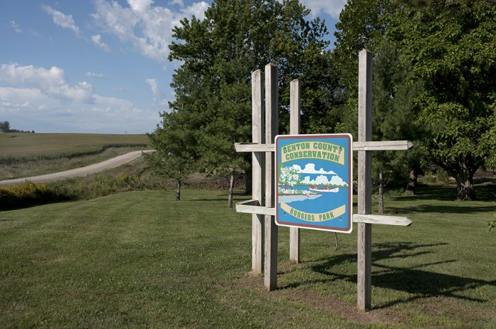 Benson County Conservation sign